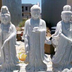 Bộ Tượng Tam Thế Phật Đá Mỹ Nghệ