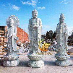 Bộ Tượng Tam Thế Phật Đẹp Đá Tự Nhiên