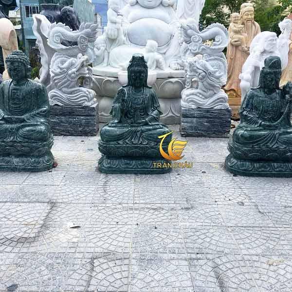 Bộ Tượng Tam Thế Phật Xanh Ân Độ