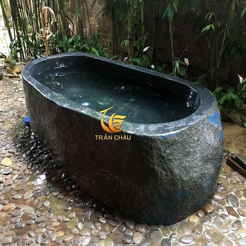 Bồn Tắm Đá Bazan Cho Sân Vườn