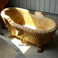 Bồn Tắm Đá Cẩm Thạch Vàng Cho Nhà Phố