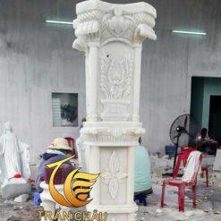 Cột Đá Cẩm Thạch Trắng Tại Hà Nội