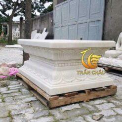 Đế Đài Sen Cho Tượng Phật Đứng Bằng Đá