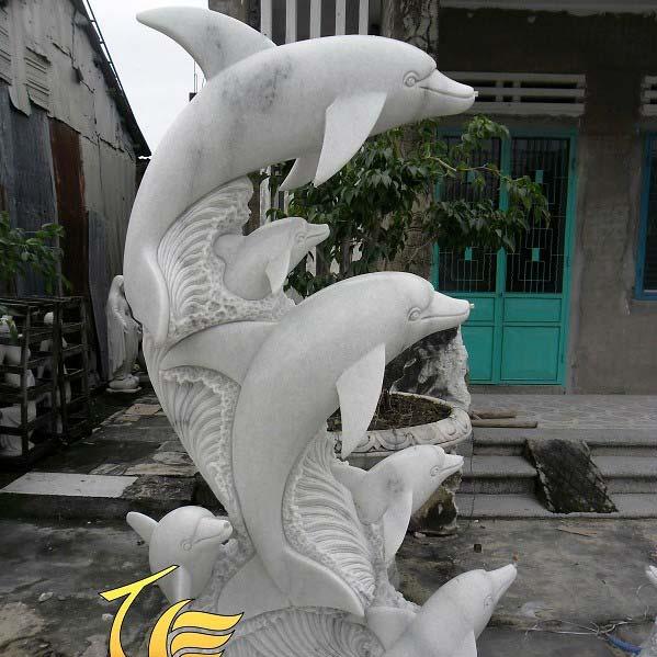 Đôi Cá Heo Đá Mỹ Nghệ Non Nước Đà Nẵng