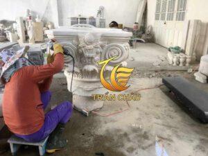 Lắp Đặt Chân Cột Đá Vuông Biệt Thự Tại Hồ Chí Minh