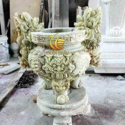 Lư Hương Đá Cẩm Thạch Xanh Đẹp Tại Đà Nẵng