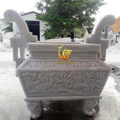 Lư Hương Vuông Trạm Tứ Linh