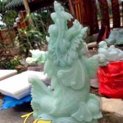 Mẫu Tượng Cá Chép Hóa Rồng Đá Ngọc