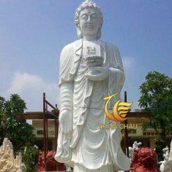 Mẫu Tượng Phật A Di Đà Đứng Bằng Đá