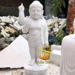 Mẫu Tượng Phật Đản Sanh Đá Trắng