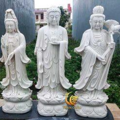 Mẫu Tượng Tam Thế Phật Đứng Đá Đẹp