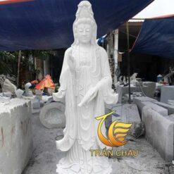 Phật Bà Quan Âm Bằng Đá Cẩm Thạch