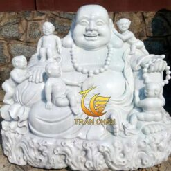 Phật Di Lặc Và 5 Em Bé Bằng Đá Tự Nhiên