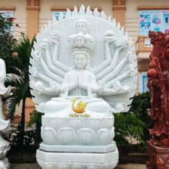 Phật Quan Âm Ngồi Đài Sen Đá Tự Nhiên