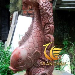 Tượng Cá Chép Đa Granite Đỏ