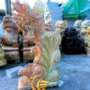 Tượng Cá Chép Hóa Rồng Đá Cẩm Thạch Vàng Đẹp