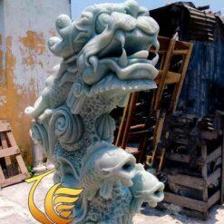 Tượng Cá Chép Hóa Rồng Đá Tự Nhiên Đẹp