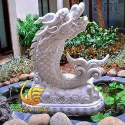 Tượng Cá Chép Hóa Rồng Trang Trí Hồ Cá