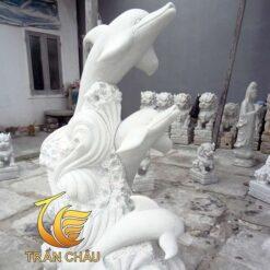 Tượng Cá Heo Đá Phong Thủy