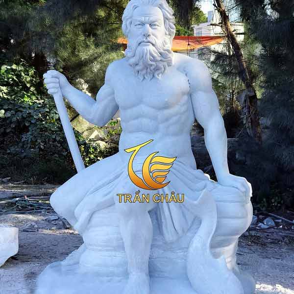 Tượng Chân Dung Thần Neptune Đá Đẹp