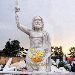 Tượng Chân Dung Thần Zeus Đá Cẩm Thạch