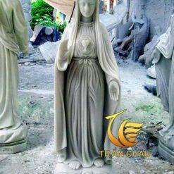 Tượng Đức Mẹ Ban Ơn Bằng Đá Cẩm Thạch