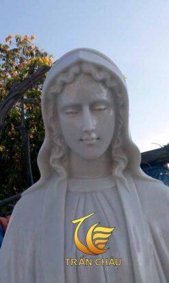 Tượng Đức Mẹ Đá Cẩm Thạch Nguyên Khối