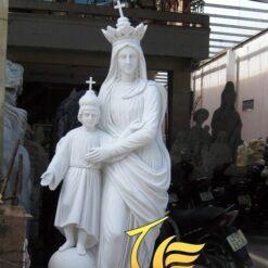 Tượng Đức Mẹ Maria Đá Trắng Vân Mây