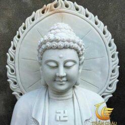 Tượng Đức Phật A Di Đà Bằng Đá Nguyên Khối