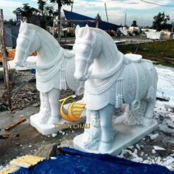 Tượng Ngựa Đá Để Cổng