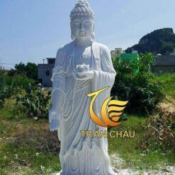 Tượng Phật A Di Đà Đứng Đá Cẩm Thạch Đẹp