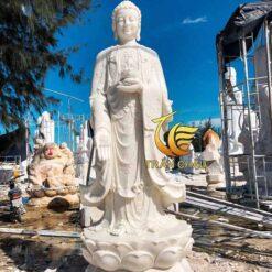 Tượng Phật A Di Đà Đứng Đá Tự Nhiên