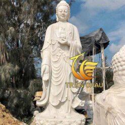 Tượng Phật A Di Đà Đứng Trên Đài Sen