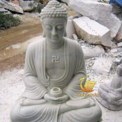 Tượng Phật A Di Đà Ngồi Đá Cẩm Thạch