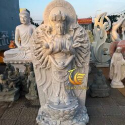 Tượng Phật Bà Thiên Thủ Thiên Nhãn Đá Trắng