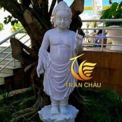 Tượng Phật Đản Sanh Bằng Đá Thờ Tại Chùa