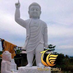 Tượng Phật Đản Sanh Đá Nguyên Khối Lớn