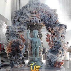 Tượng Phật Đản Sanh Đẹp Đá Cẩm Thạch