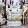 Tượng Phật Di Lặc Ngồi Đá Cẩm Thạch