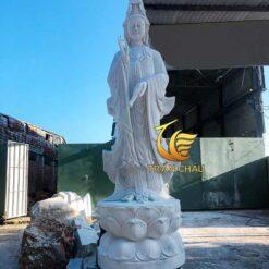 Tượng Phật Quan Âm Bằng Đá Tự Nhiên
