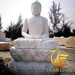 Tượng Phật Thích Ca Mâu Ni Đá Trắng
