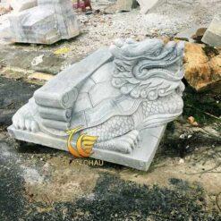 Tượng Rùa Đầu Rồng Đá Cẩm Thạch Trắng Đẹp