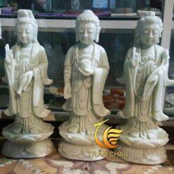 Tượng Tam Thế Phật Bằng Đá Cẩm Thạch