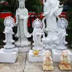 Tượng Tam Thế Phật Đứng Kích Cỡ Nhỏ