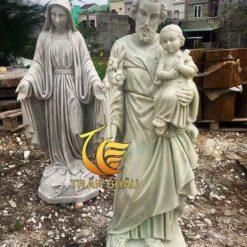 Tượng Thánh Giuse Đá Đẹp Nguyên Khối
