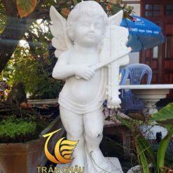Tượng Thiên Thần Chơi Đàn Trang Trí Sân Vườn