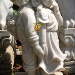 Tượng Thiên Thần Đá Cẩm Thạch Xám