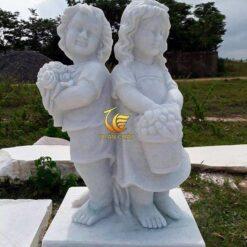 Tượng Thiên Thần Hái Hoa Đá Mỹ Nghệ