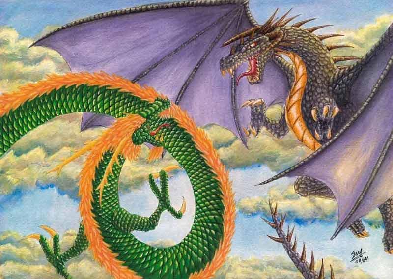 Hình ẢnhRồng Phương Đông Và Rồng Phương Tây