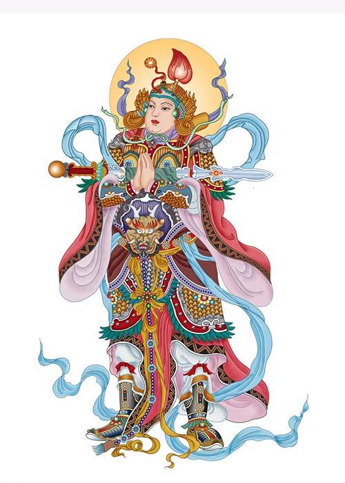 Tranh Vi Đà Bồ Tát